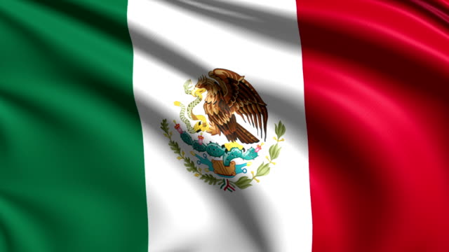 flag of Mexico (loop) video