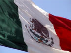 Flag of Mexico Waving in the Breeze video