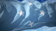 flag of Micronesia video