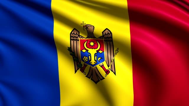 flag of Moldova (loop) video