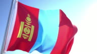 Flag of Mongolia video