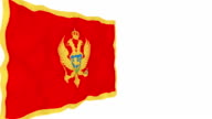 Flag of Montenegro. video