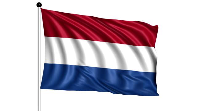 flag of Netherlands - loop (+ alpha channel) video