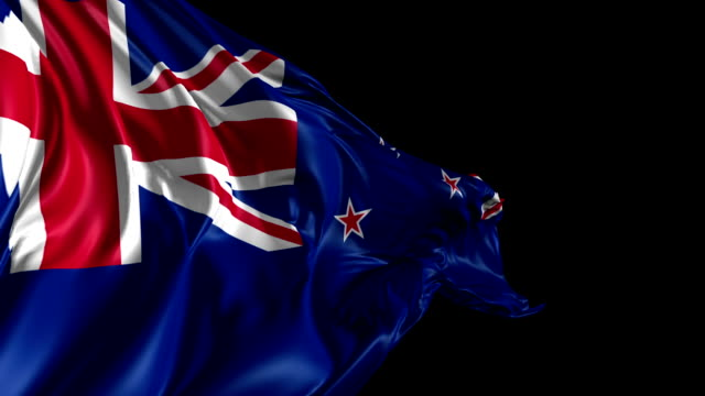 Flag of New Zealand video