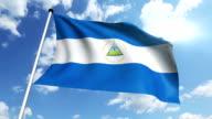 flag of Nicaragua  (loop) video