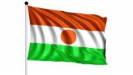 flag of Niger - loop (+ alpha channel) video