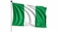 flag of Nigeria - loop (+ alpha channel) video