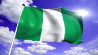 flag of Nigeria (loop) video