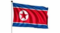 flag of North Korea - loop (+ alpha channel) video