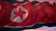 Flag of North Korea video