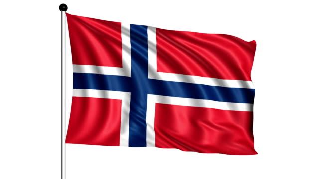flag of Norway - loop (+ alpha channel) video