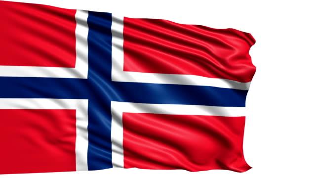 flag of Norway (loop) video