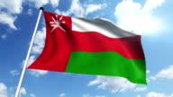 flag of Oman (loop) video