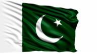 flag of Pakistan (loop) video