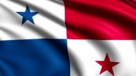 flag of Panama (loop) video