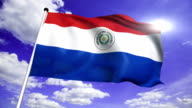 flag of Paraguay (loop) video