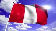 flag of Peru (loop) video