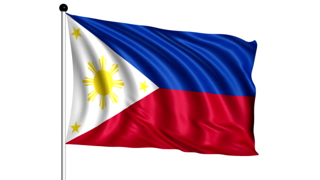 flag of Philippines - loop (+ alpha channel) video