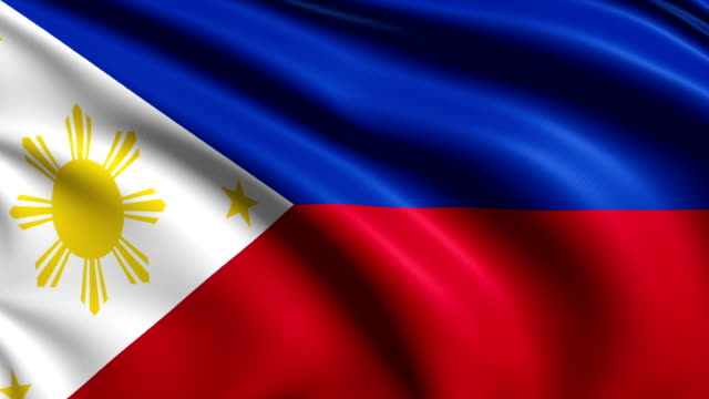 flag of Philippines (loop) video