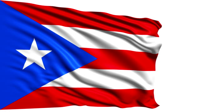 flag of Puerto Rico (loop) video