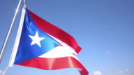 Flag of Puerto Rico video