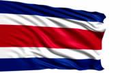 flag of Republic of Costa Rica (loop) video