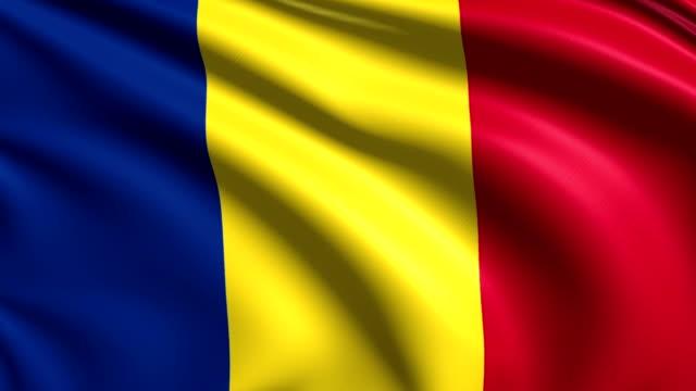 flag of Romania (loop) video
