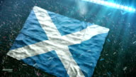 Flag of Scotland at the stadium video