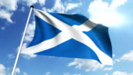 flag of Scotland video