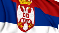 Flag of Serbia video