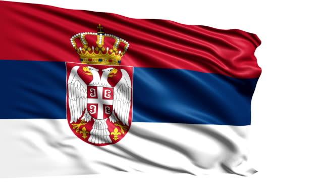 flag of Serbia (loop) video