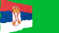 Flag of Serbia. video