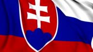 Flag of Slovakia video