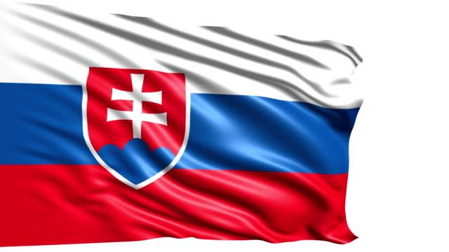 flag of Slovakia (loop) video