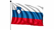 flag of Slovenia - loop (+ alpha channel) video