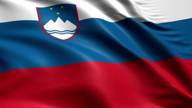 flag of Slovenia (loop) video