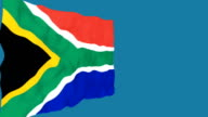 Flag of South Africa. video