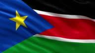 Flag of South Sudan - seamless loop video
