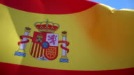 Flag of Spain High Detail video