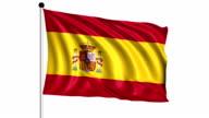 flag of Spain - loop (+ alpha channel) video