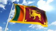 flag of Sri Lanka (loop) video