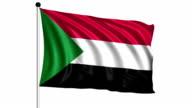 flag of Sudan - loop (+ alpha channel) video