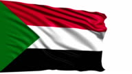 flag of Sudan (loop) video
