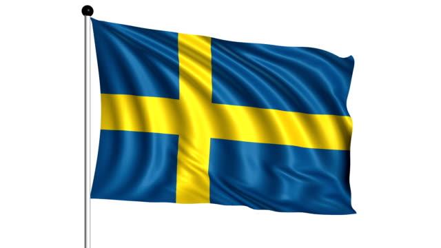 flag of Sweden - loop (+ alpha channel) video