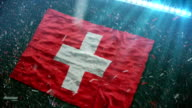 Flag of Switzerland at the stadium video