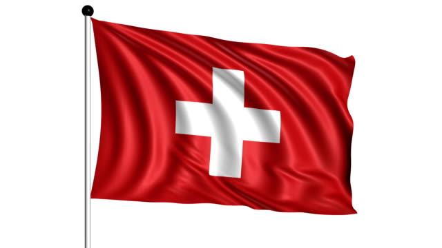 flag of Switzerland - loop (+ alpha channel) video