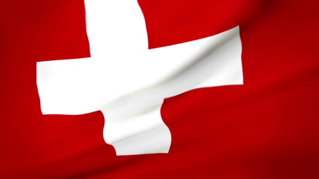 Flag of Switzerland Loopable Flagge der Schweiz video
