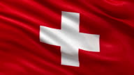 Flag of Switzerland - seamless loop video