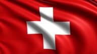 flag of Switzerland (loop) video