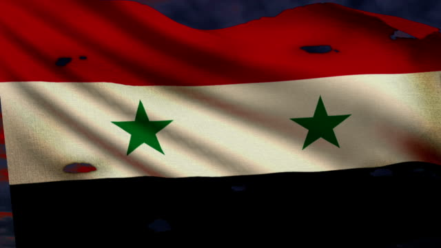 Flag of Syria, conflict video